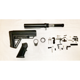 Lower Build Kit with Alpha Stock - Black
