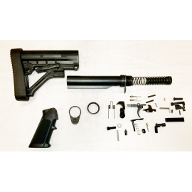 Lower Build Kit with Omega Padded Stock - Black