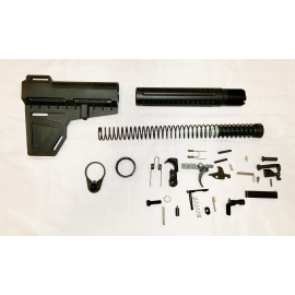 Lower Build Kit with Breach Brace - Black